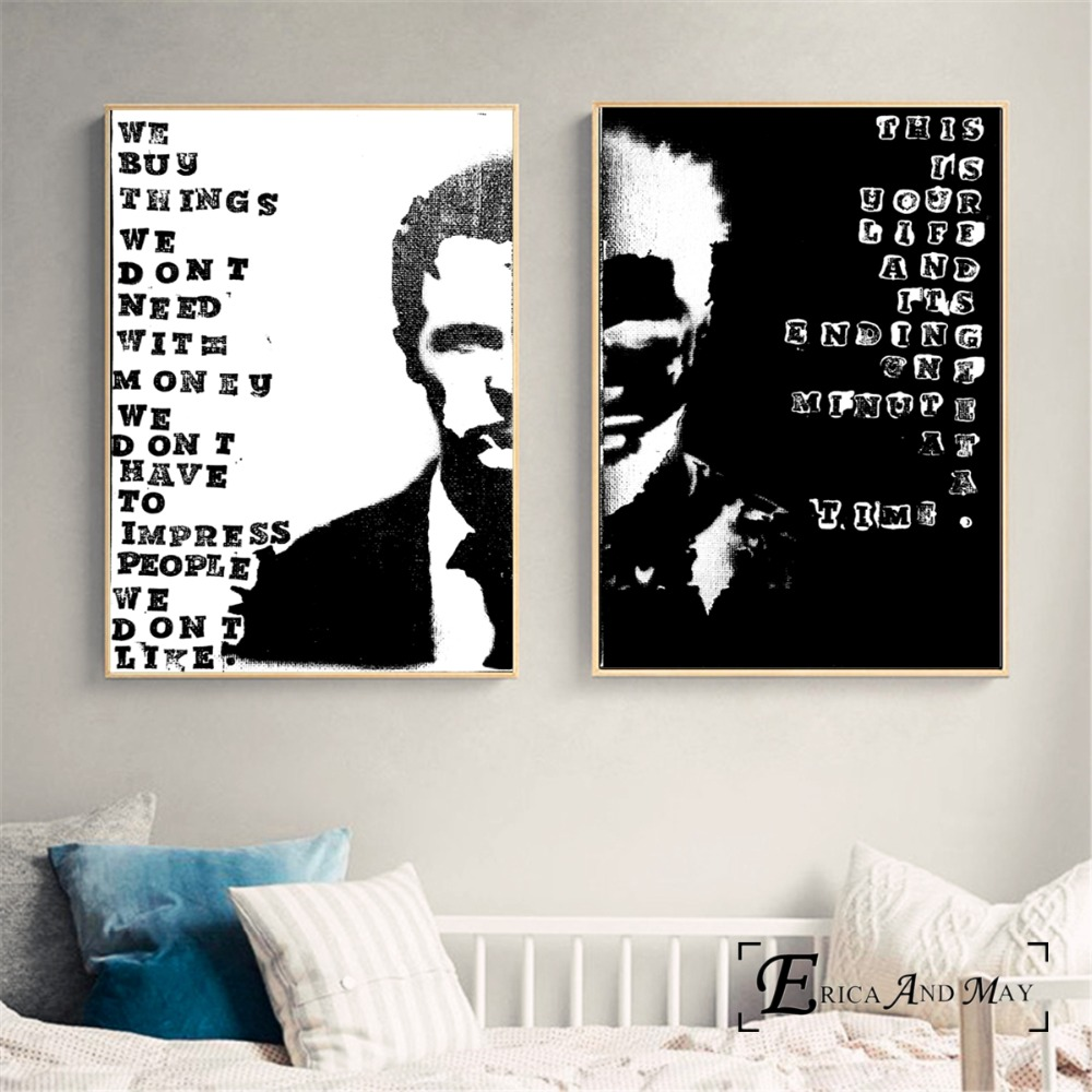 Fight Club Motivational Quotes Art Silk Poster Canvas Print 13x24 ...