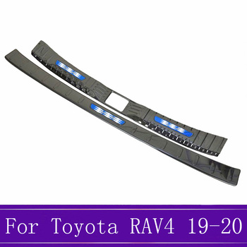 Car Rear Guards Stainless Steel Rear Bumper Trunk Fender Sill Plate Protector Guard Cover Trim For Toyota RAV4 AX50 2019 2020