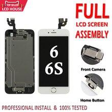 Juego completo LCD para iPhone 6G 6 S LCD con botón de inicio cámara frontal montaje completo pantalla táctil digitalizador de reemplazo