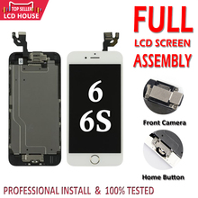 Set completo A CRISTALLI LIQUIDI per il iphone 6G 6 S LCD con Tasto Home Fotocamera Frontale Display Assembly Completo di Touch Screen digitizer di Ricambio