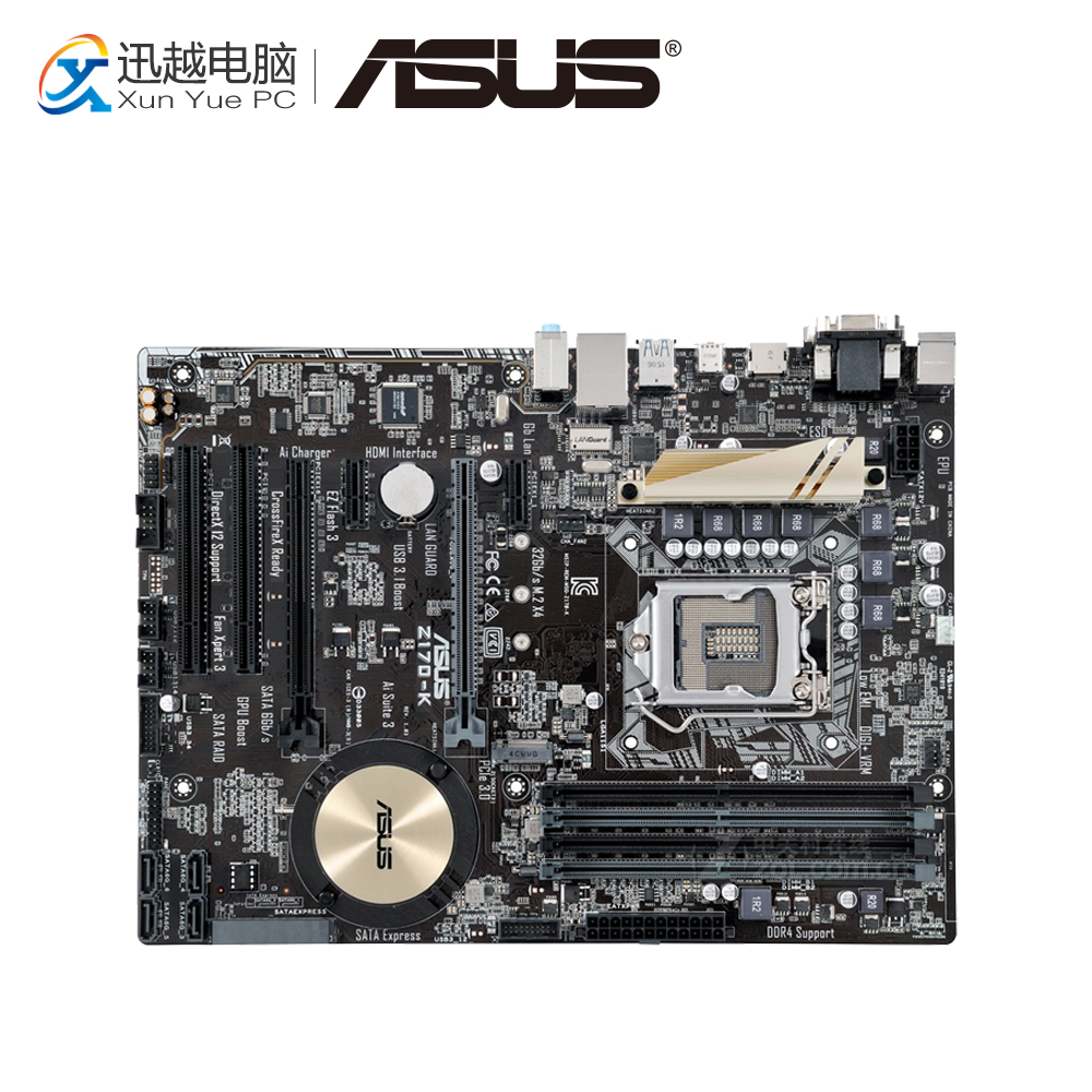 Asus Z170-K Desktop Motherboard Z170 Socket LGA 1151 i7 i5 i3 DDR4 32G SATA3 USB3.0 ATX