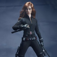 Customized SO Toys SO T01/SO T03 1/6 Scarlett Johansson Black Widow Battle suit Clothes Set For 12 inches PH Doll Body Figure