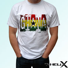 Ghana Flag - white t shirt top country design - mens womens kids & baby sizes New T Shirts Funny Tops Tee New Unisex Funny Tops