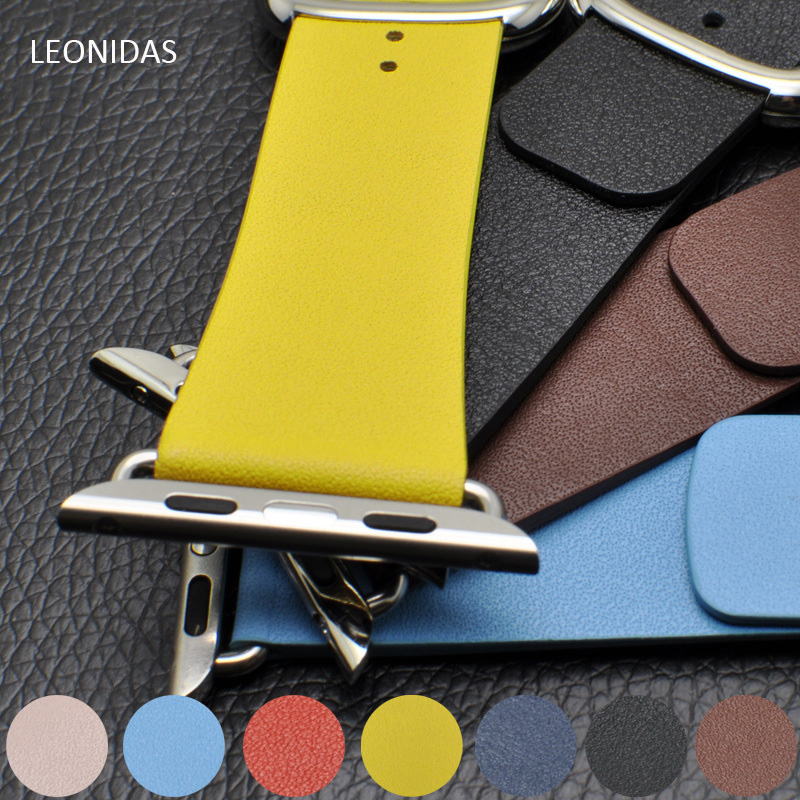 LEONIDAS Leather Modern buckle band For iwatch series 3/2/1 Apple Watch 3 42mm/38mm i watch strap wrist belt bracelet watchband for apple watch band leather watchband for iwatch bands 42mm 38mm series 3 2 1 butterfly buckle bracelet strap wrist accessories
