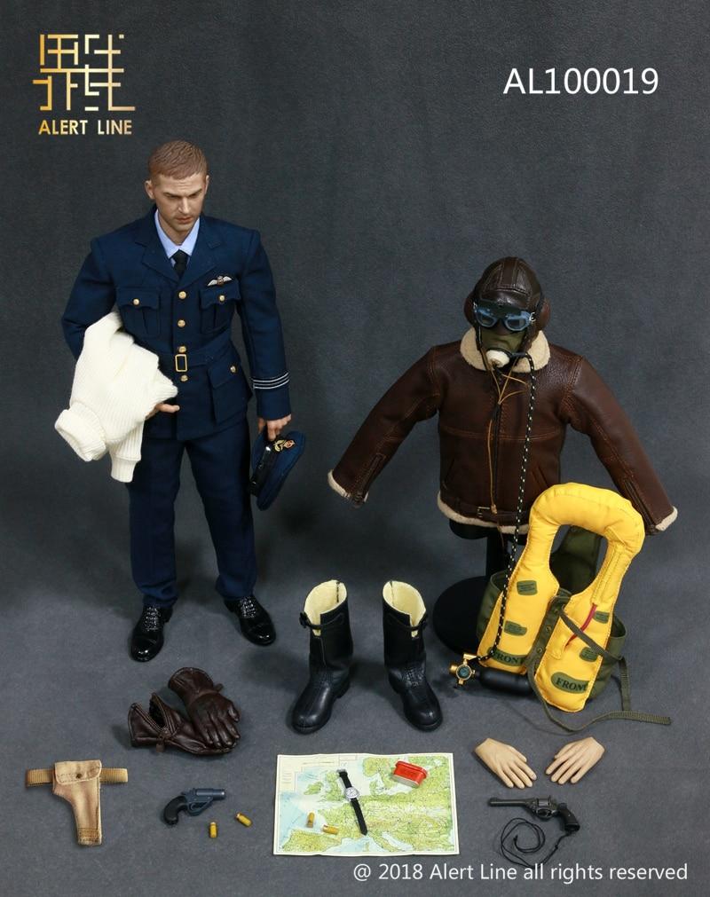 ALer สาย AL100019 WWII British Royal Air Force   Fighter Pilot 1/6 รูป-ใน ฟิกเกอร์แอคชันและของเล่น จาก ของเล่นและงานอดิเรก บน   1