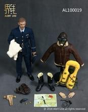 ALer Linie AL100019 WWII Britischen Royal Air Force Kämpfer Pilot 1/6 Figur