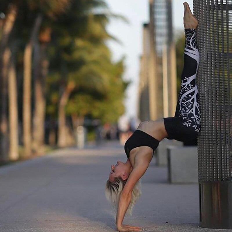 Kostlich Spring Tree Print Women Workout Leggings Put Hip Elastic High Waist Fitness Legging Breathable Slim Pants Women Leggins (20)
