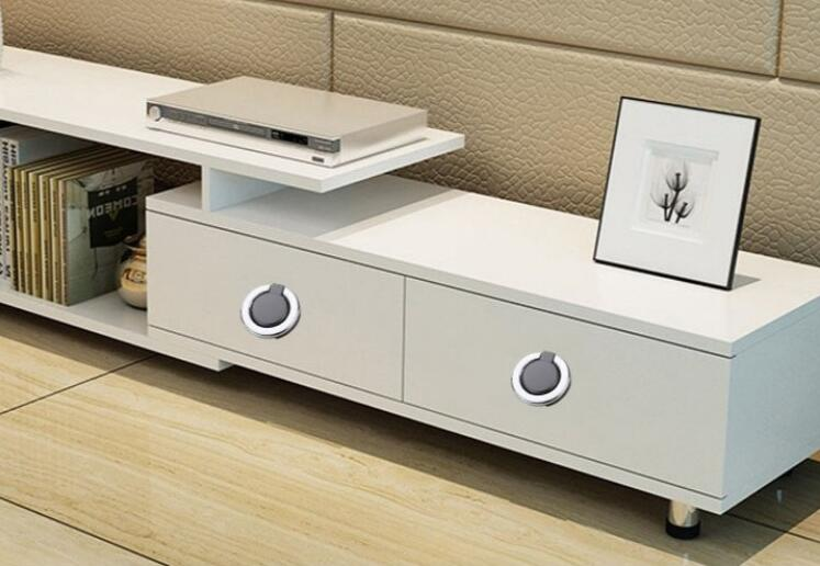 HTB1Hm0sLSzqK1RjSZFpq6ykSXXaU - New solid Concealed drawer knob ring round handles Wardrobe Cupboard Door handles for interior doors Pulls Furniture Hardware
