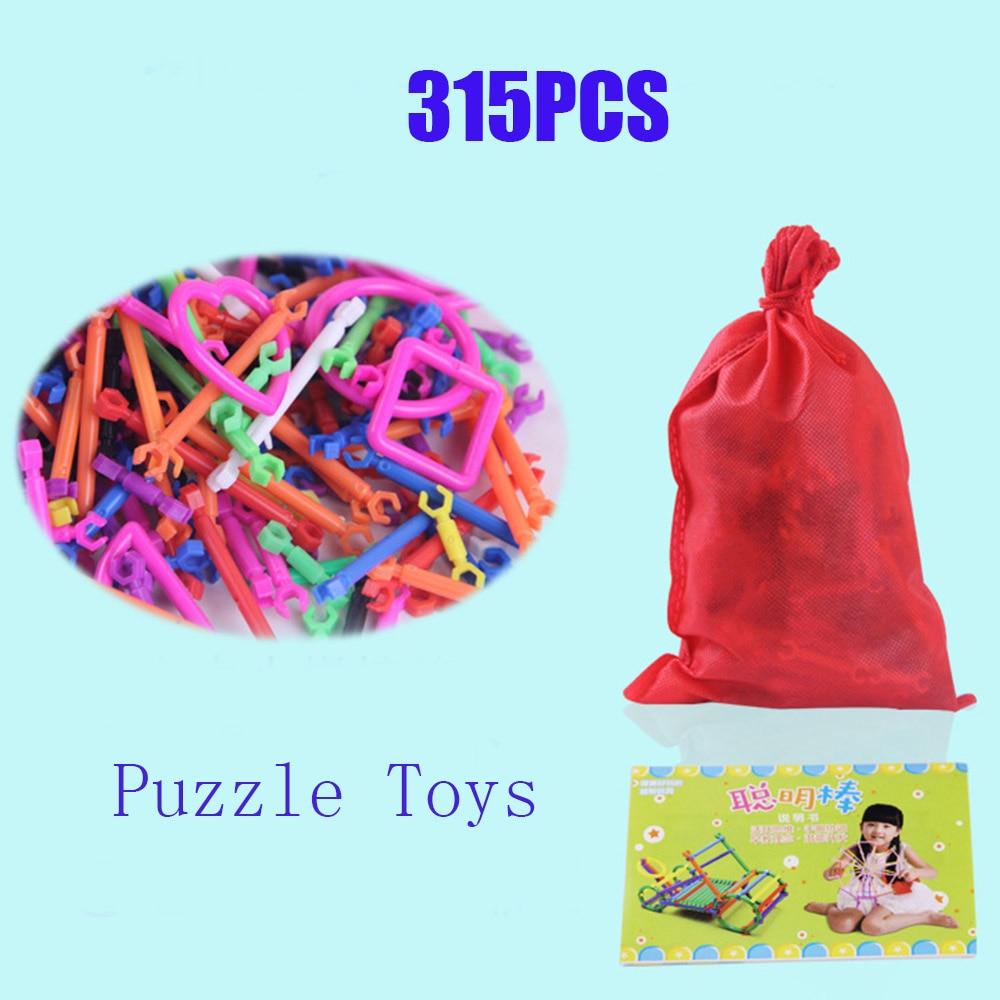 315PCS Montessori PLAYMOBIL Blocks Educational Toys Plastic Spell Plug Early Childhood Education Wisdom Stick Kids Toys oyuncak
