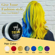PURC Fashion Yellow Hair Wax Unisex Men Women Dye Gray Mud Pomade Styling Tools Temporary One Time Hair Color Wax Cream 100g