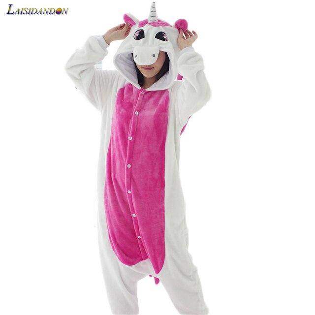 New Adulto Animais Girafa Azul Unicórnio Ponto Totoro Porco Cor de Rosa Panda Pikachu Gato Vaca Pijama Tigre Definir Onesies Pijamas Para mulheres