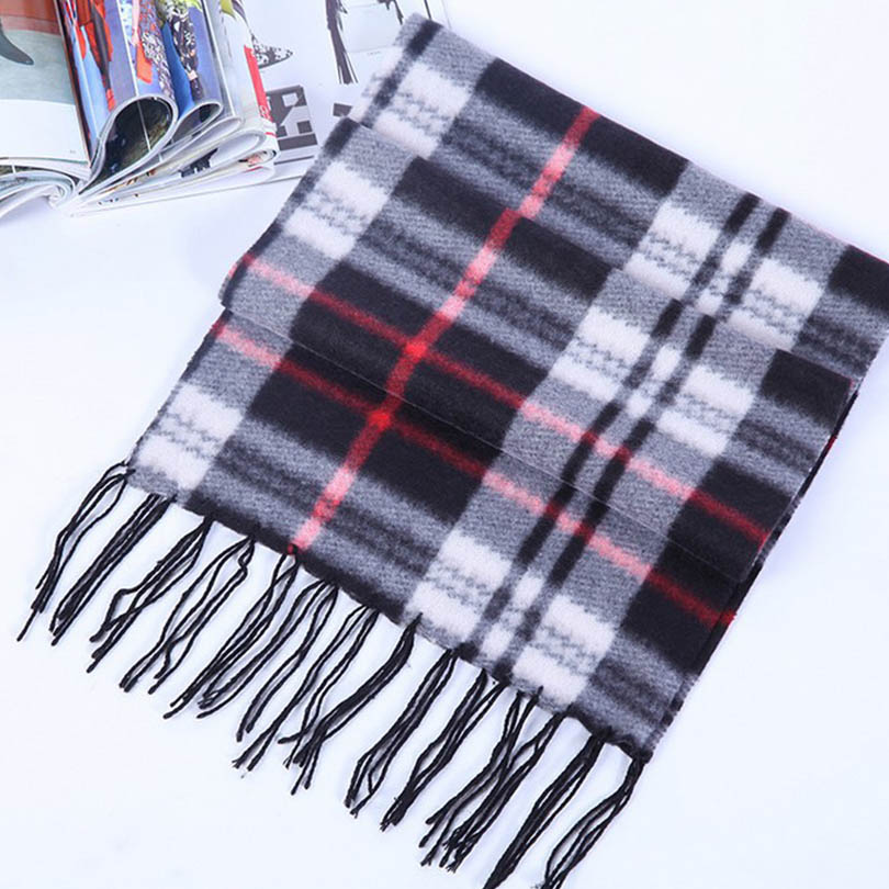 1350191935c Las mujeres de calidad superior Bufandas invierno calidez bufanda a cuadros  diseñador unisex acrílico espesor básica Mantones Venta caliente