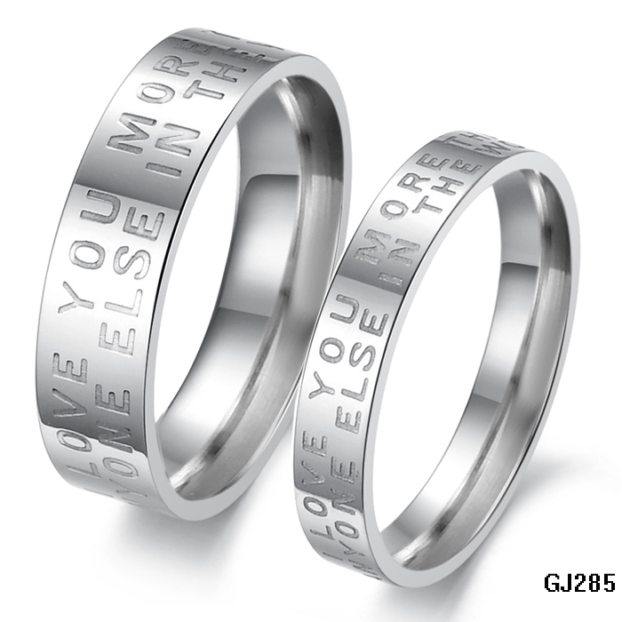 Cheap Price Promotion Couple Letters Couple Ring For Wedding 316L