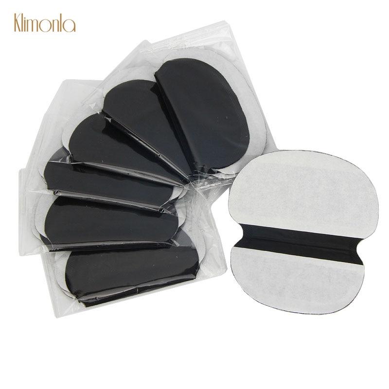 New 10 Pairs Black Cotton Sweat Pads Underarm Armpits Disposable Absorbing Pads Deodorants Makeup Tools