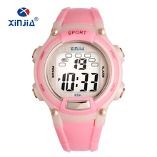 Boy and girl Digital Watch Sports 7 color backlight Stopwatch Watches 50M Waterproof Children's Wristwatches Student Hours Ne