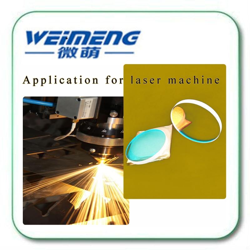 Weimeng 45 grados 19,05*9,25mm H-K9L reflector láser lente espejo óptico 650nm y 1064nm dos puntos reflectantes para máquina de láser - 3