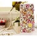 Elegante cristal de diamante coração de strass casos de telefone capa para iphone 5s se coque 6 s 7 Plus para Samsung S 5 6 7 Nota 3 4 5 caso