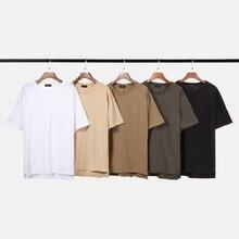 QoolXCWear  Men T-shirt Cotton Before Short Back Long Hem Men T shirts solid Hip Hop T shirt Men's Tee Top twist dip hem solid tee