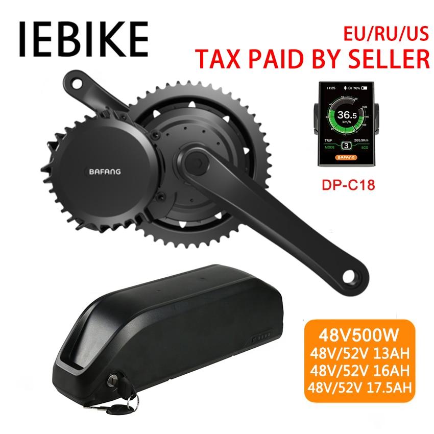 48V500W Bafang/8fun BBS02B Mi Lecteur kit moteur électrique motoréducteur Kits Vélo Électrique Ebike Kits de conversion avec Batterie