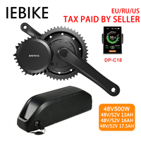 48V500W Bafang/8fun BBS02B Mid Drive Electric Motor Kit Geared Motor Kits Electric Bicycle Ebike Conversion Kits with Battery