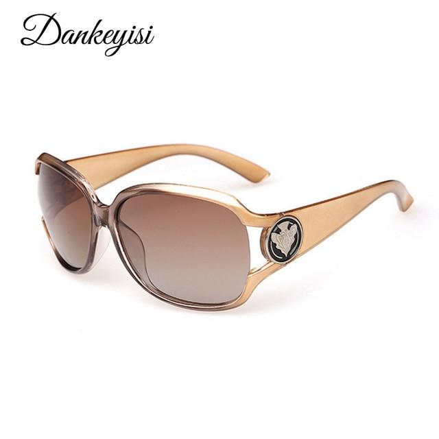 Dankeyisi Роскошные Солнцезащитные очки для женщин Для женщин Солнцезащитные очки для женщин поляризационные Брендовая Дизайнерская обувь Солнцезащитные очки для женщин 2017 дамы Солнцезащитные очки для женщин бренд Защита от солнца Очки женский