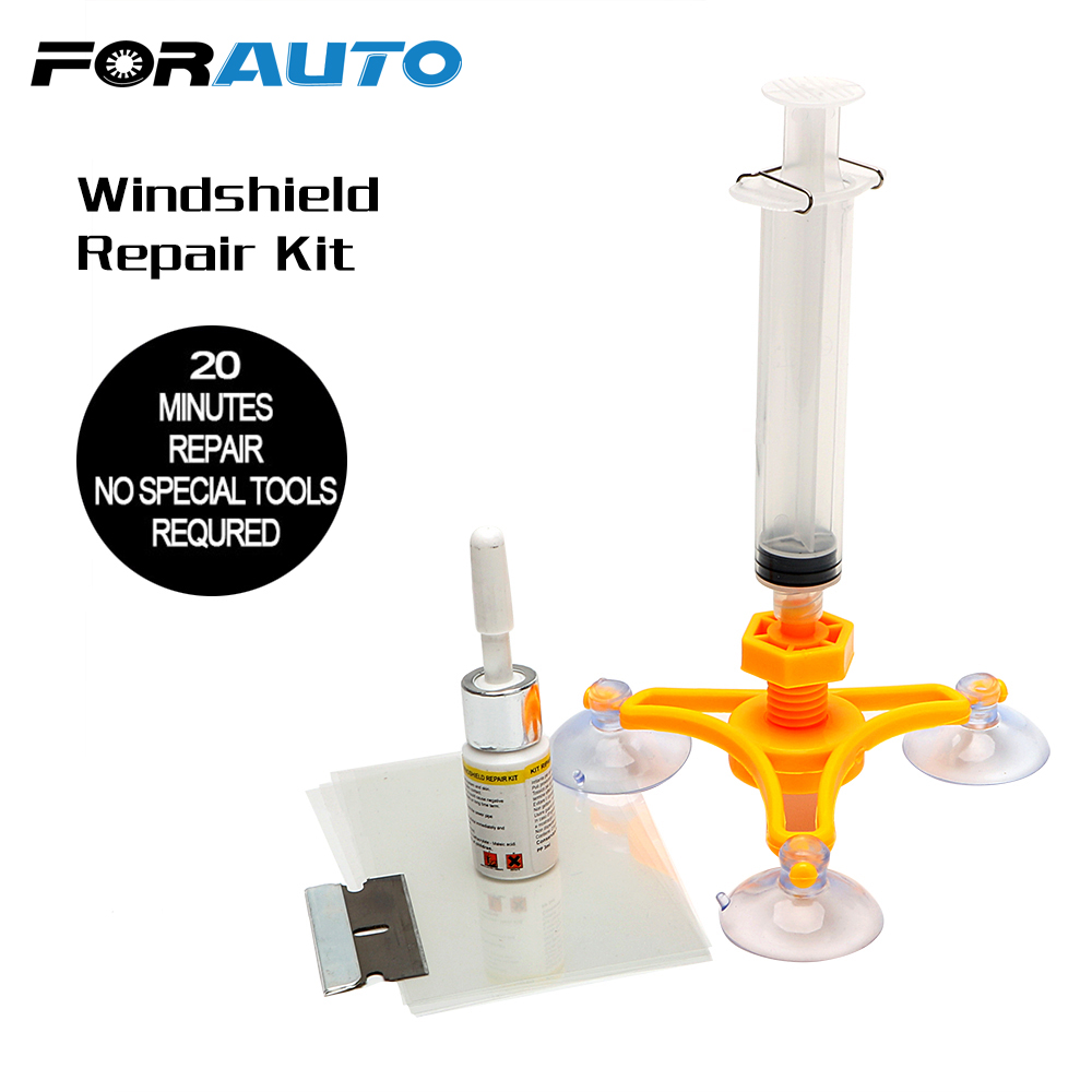 FORAUTO Car Glass Repair Tool Windshield Repair Kit DIY Auto Maintenance Sets Car-Styling Window Screen Polishing For Chip Crack ...