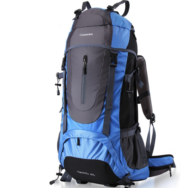 60L professional Outdoor bag waterproof Backpack metal frame Climbing Rucksack Mountaineering Hiking large capacity Backpacks multifunctional professional handle pulley roller gear outdoor rock climbing tyrolean traverse crossing weight carriage fit