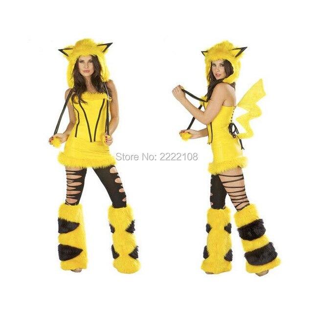 Populaire Pokemon Pikachu Anime Mignon Pour Fille Femmes Sexy Cosplay de  QX73