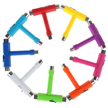 All in one ไขควง Socket Multifunction Skate T - Tool Mini Kick สกู๊ตเตอร์เครื่องมือ T - type เครื่องมือสเก็ตบอร์ด(China)