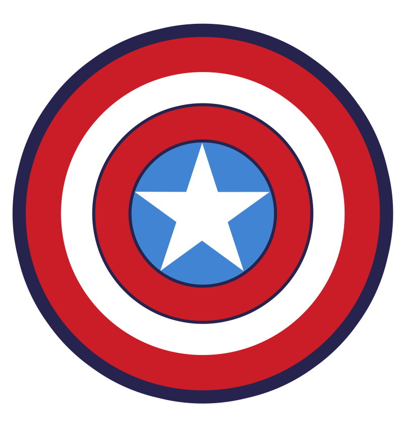 Living Room Kids Room Rug Captain America Mat For Bedroom Cute Cartoon Round Carpet Non-Slip