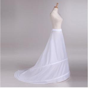 Image 4 - Novia Enaguas Underskirt Wedding Skirt Slip Wedding Accessories Chemise  2 Hoops For A Line Tail Dress Petticoat Crinoline 039