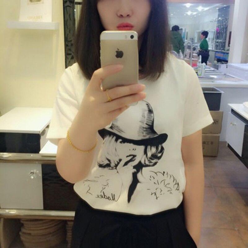 2018 Summer Women's T-shirts New Harajuku Personality Printed Short-sleeved Students Top Loose Slim T-shirt Female 5