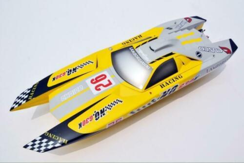 Fiber Glass E53 Lamborghini Reventon Electric Racing RC <font><b>Boat</b></font> <font><b>Model</b></font> KIT <font><b>Hull</b></font> Only TH13497 image