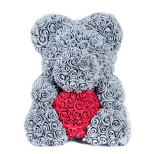 2019 Hot Sale 40cm Soap Foam Bear of Roses Teddi Bear Rose Flower Artificial New Year Gifts for Women Valentines Gift Christmas