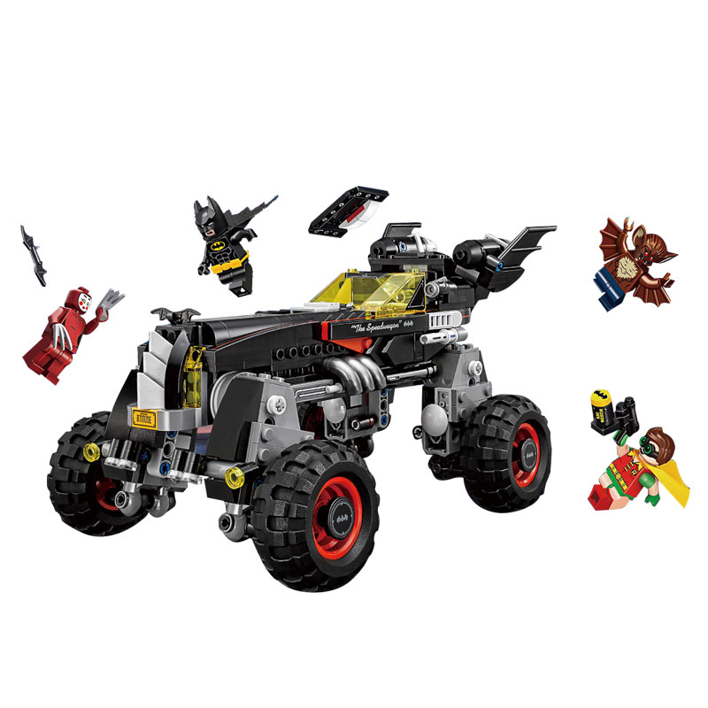 цены CHINA BRAND bricks toy DIY Building Blocks Compatible with Lego BATMAN MOVIE The Batmobile 70905