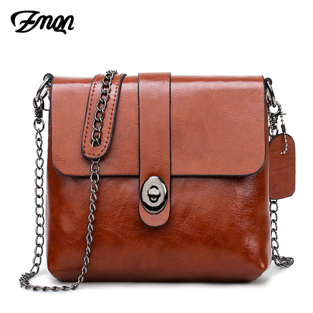 efbff0a373 ZMQN Crossbody Bags For Women 2018 Genuine Leather Bags Ladies Vintage  Retro Shoulder Chain Women Messenger Bag Small Brown C248