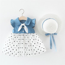 Get more info on the Toddler Baby Kids Girls Dresses Summer Party Clothing For Girls Dress Dot Patchwork Tulle Dress Princess Dresses Hat