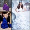 Роскошные Тюль Рюшами Облако Princesss Свадебные Платья с Кристально Штапики Зашнуровать Беременных Бальное платье Цветные Свадебные Платья