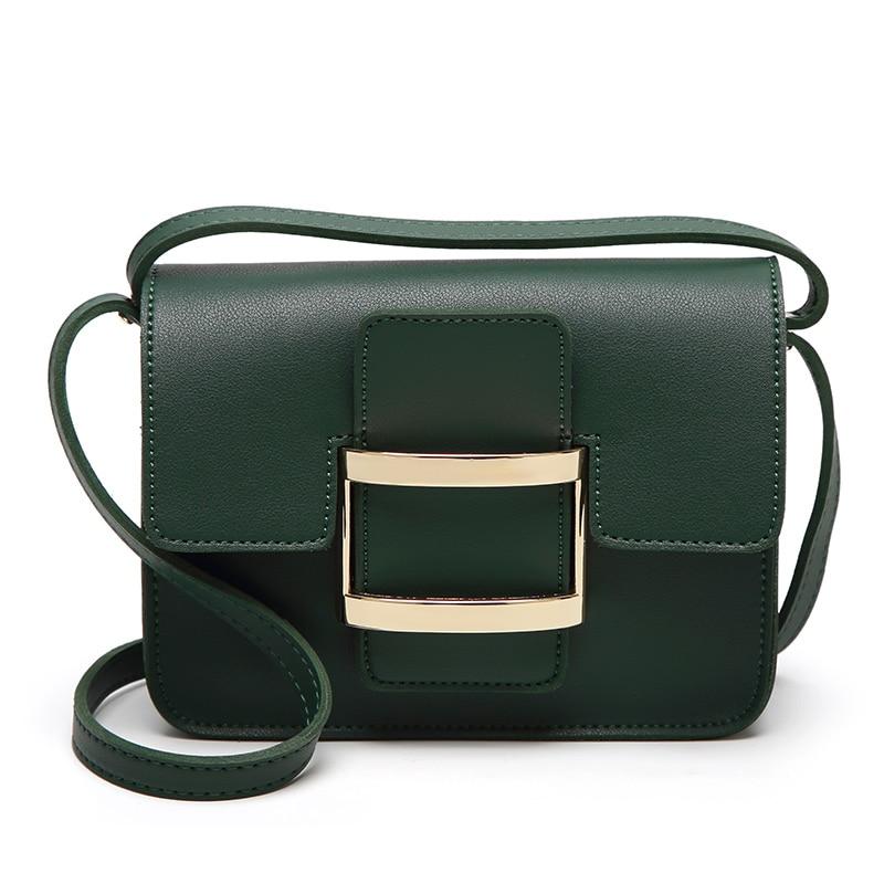 Retro Fashion Female Square Bag 2019 New High quality Matte PU leather Women 39 s Designer Handbag Lock Shoulder Messenger bags in Shoulder Bags from Luggage amp Bags