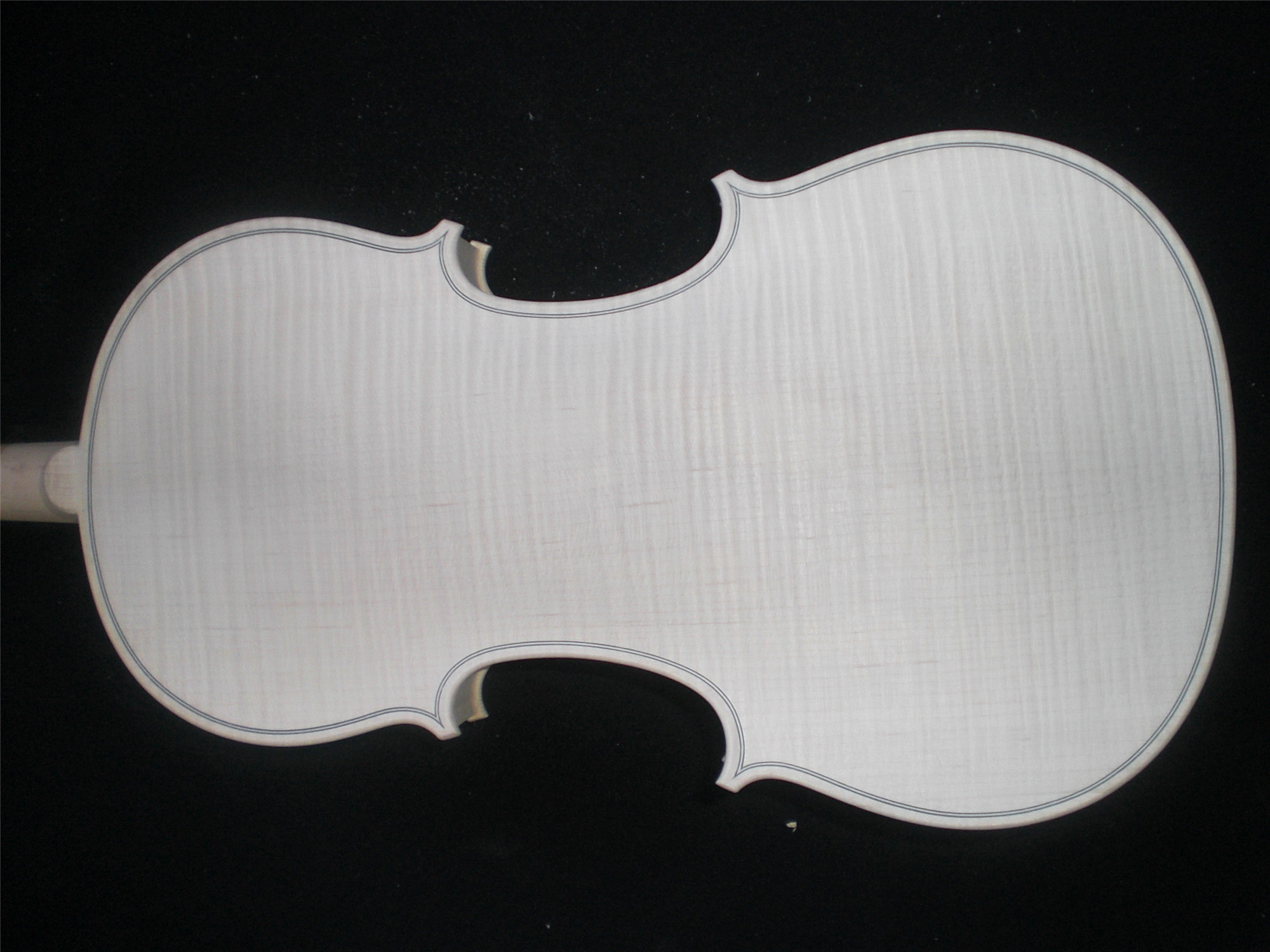 Whole Piece Maple Back Quality White Violin Unvarnished Ebony Fingerboard Spruce Top WH0506#Whole Piece Maple Back Quality White Violin Unvarnished Ebony Fingerboard Spruce Top WH0506#