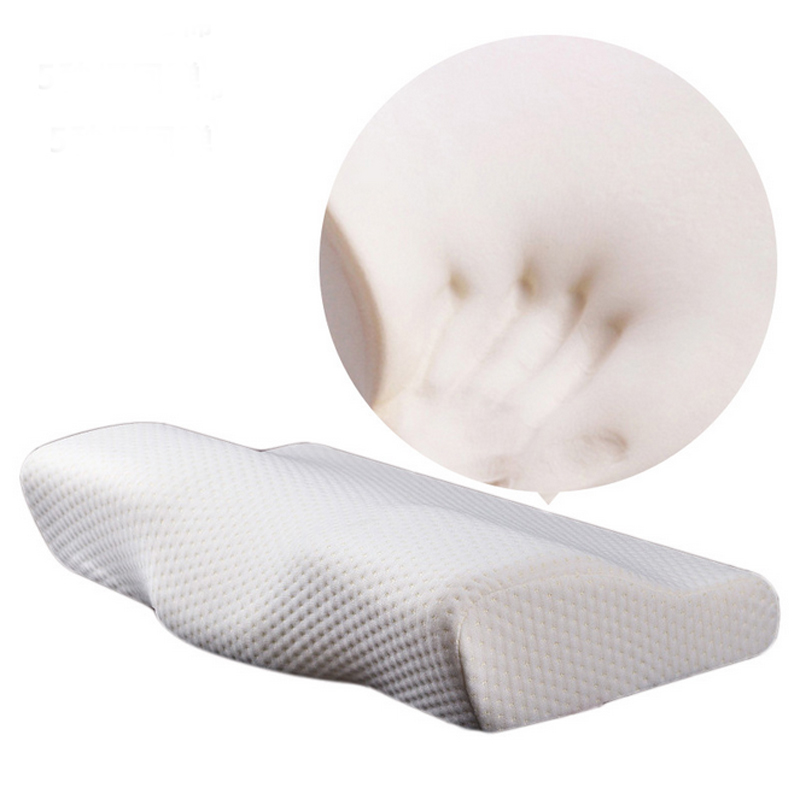 Memory Foam Bedding Pillow Neck protection Slow Rebound Memory Foam Butterfly Shaped Pillow Health Cervical Neck size in 50*30CM(China)