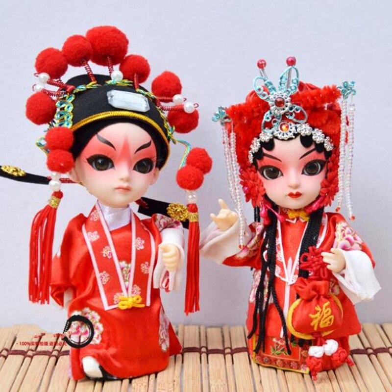 15cm cartoon dolls Q version of Peking opera mask doll with Chinese characteristics silk folk dolls children's toys