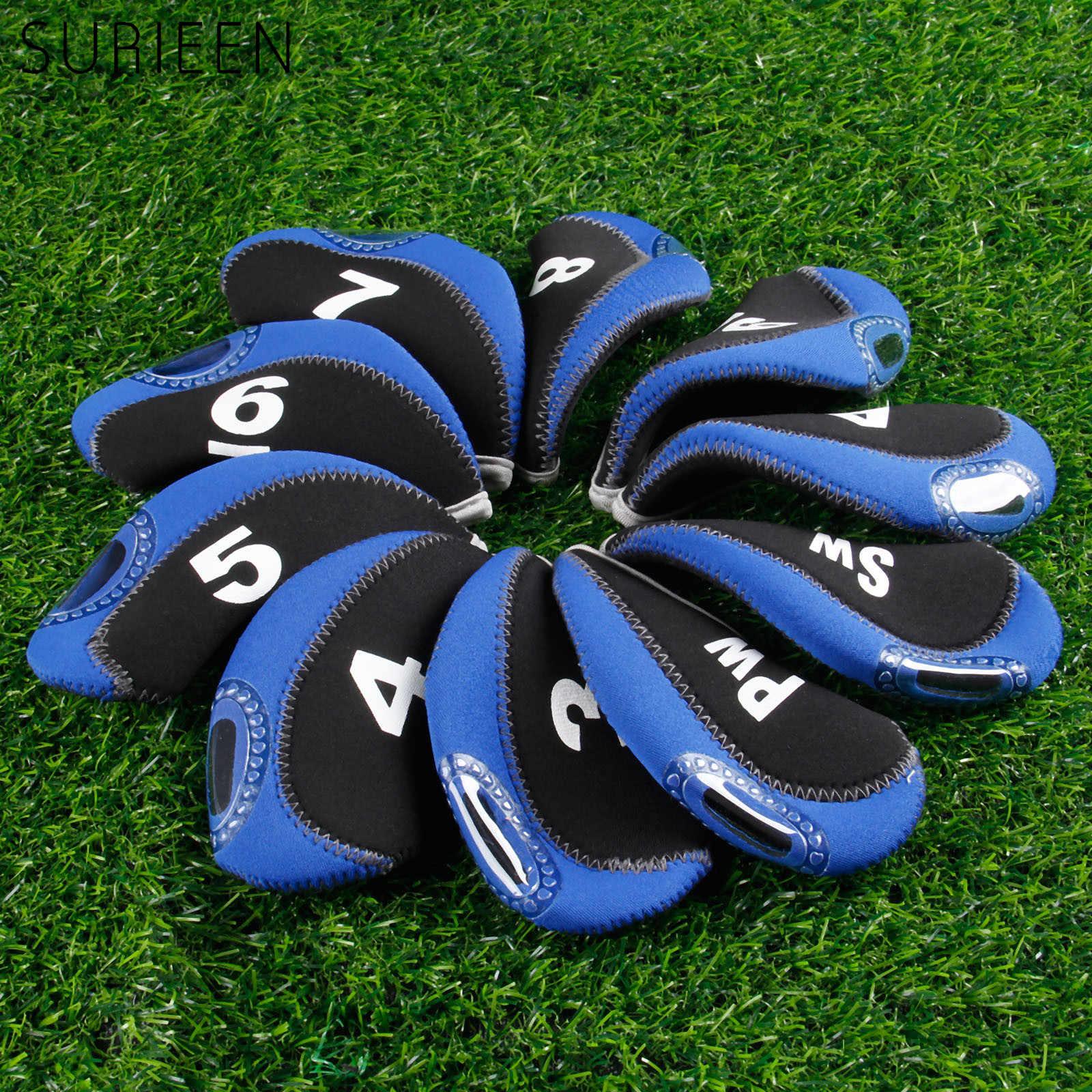 10 unids/lote cubierta de cabeza de Golf Club de Golf de hierro Putter cubre Protector de cabeza de Club de Golf accesorios 3 4 5 6 7 8 9 PW SW un