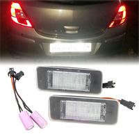 2x Canbus Bulbs Led License Plate Lights For Opel Astra J Estate 10 Zafira C 12