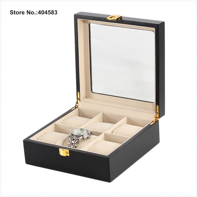 Aliexpresscom Buy 6 Compartment Glass lid Black High Glossy