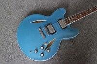 أعلى بيع ديف غروهل الغيتار dg 335 الثقوب معدنية الكهربائية الغيتار الجاز نمط الماس الأزرق النهاية قيثارة قيثارة eletrica