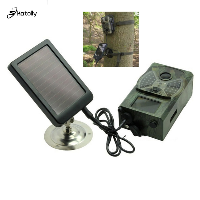 Outdoor Suntek Hunting Trail Camera HC300M Series Solar Panel Charger US Plug Battery External Power Scouting Detection Cameras