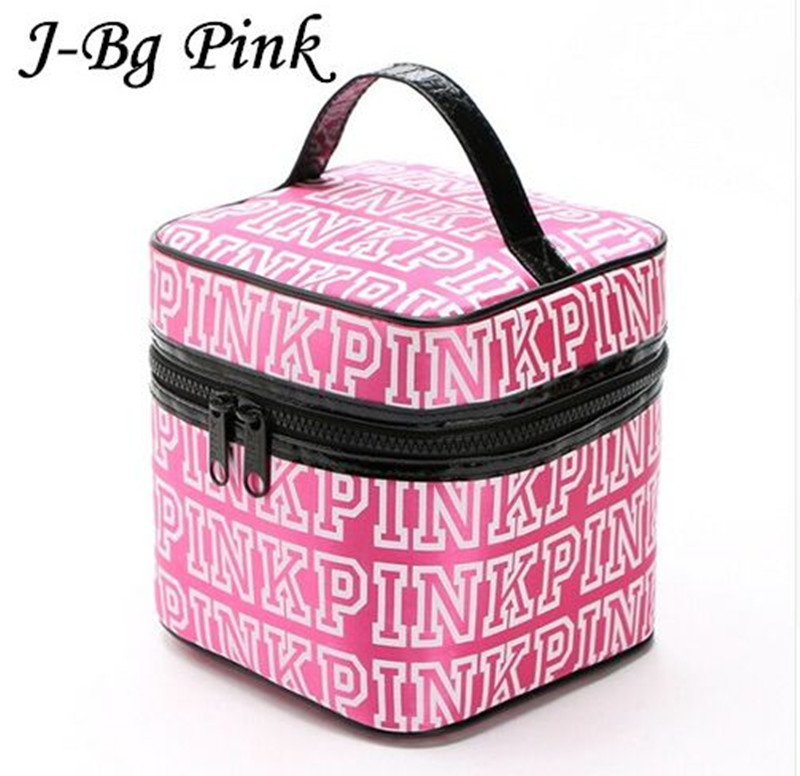 2016 women s brand new pretty pink makeup bag large capacity portable women cosmetics cases the