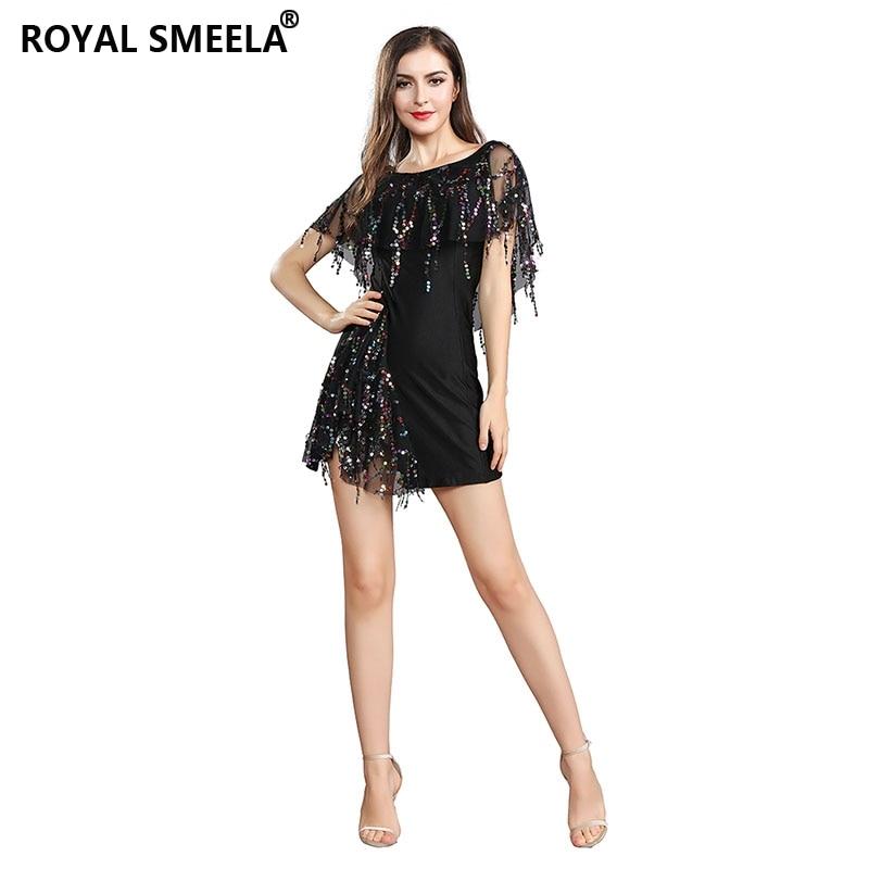 2019 été nouvelle femme évider robe dos gland manches Chauve-Souris robes de soirée décontracté robe de nuit 319019 haute fente robe