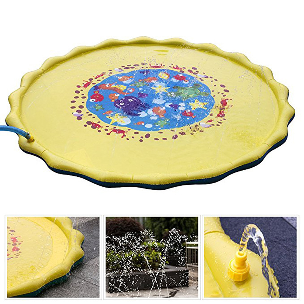 170CM Swimming pool baby wading kiddie squirt fun pool outdoor spray mat for Lawn Beach Play Game Sprinkler Mat